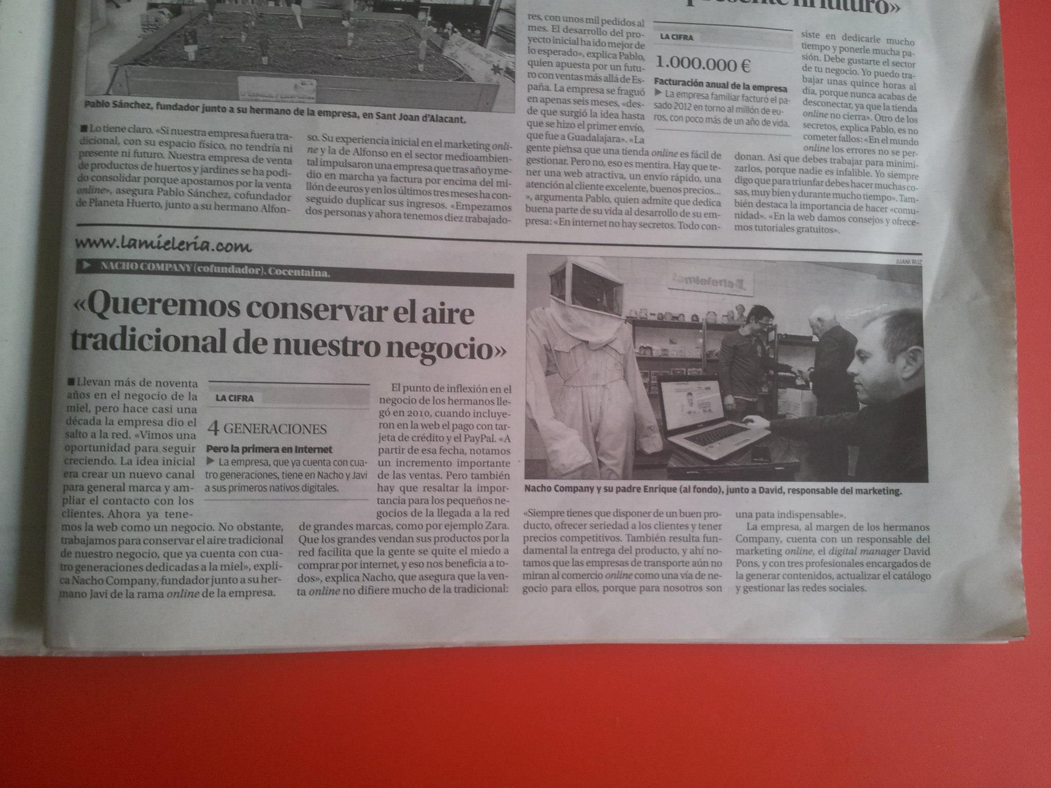 Entrevista Diario Información Miel