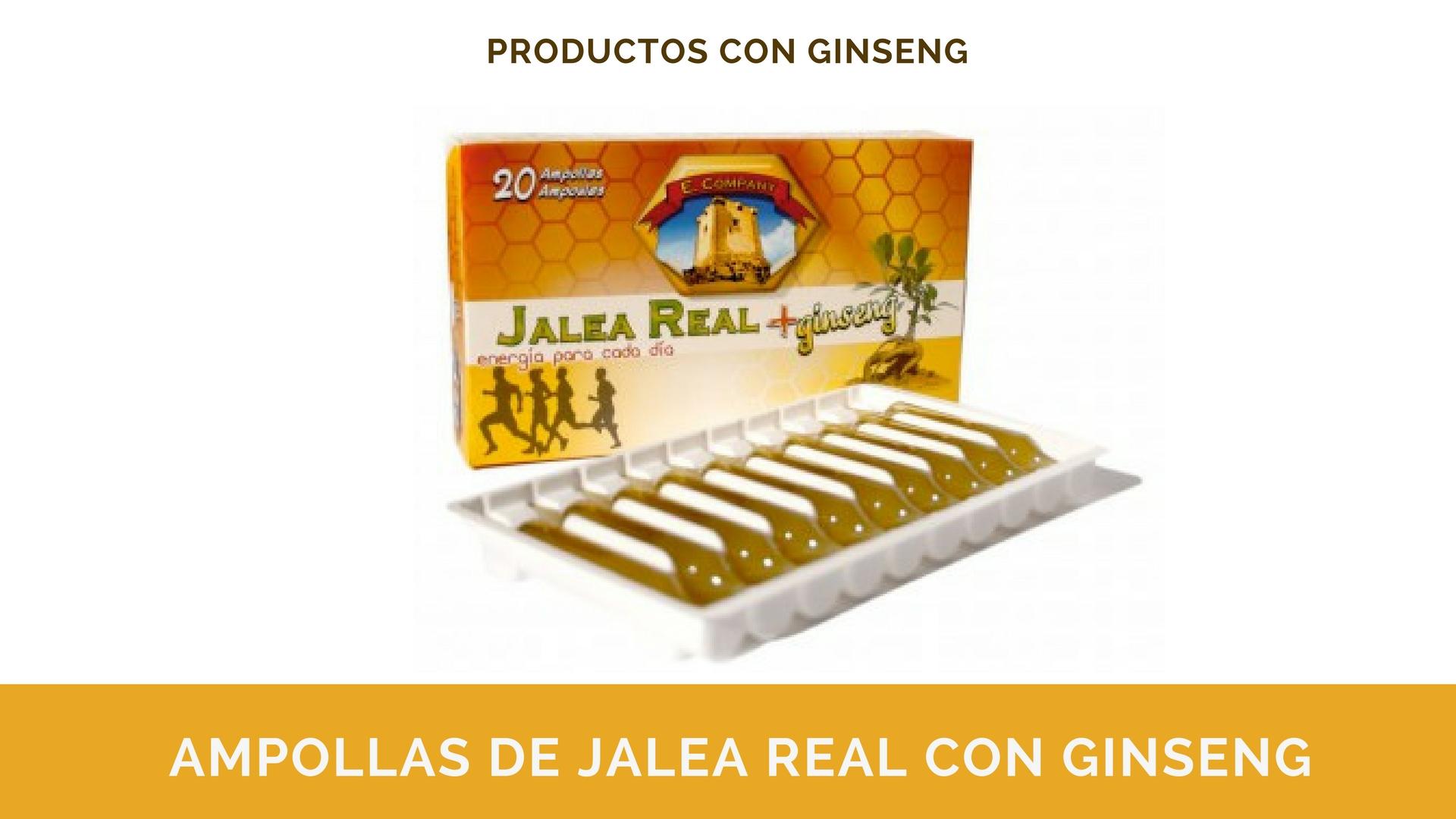 Comprar Ampollas de Jalea Real con Ginseng España